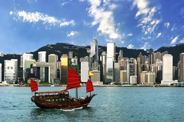 Hong Kong view of Victoria Harbor