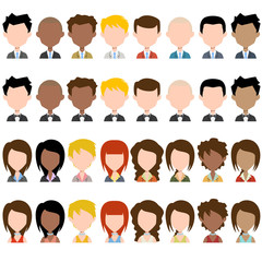 Business people avatar, vector set collection