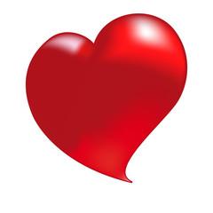 Cuore Rosso di San Valentino Vettoriale