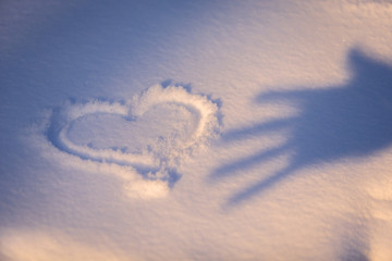 heart in the snow 2