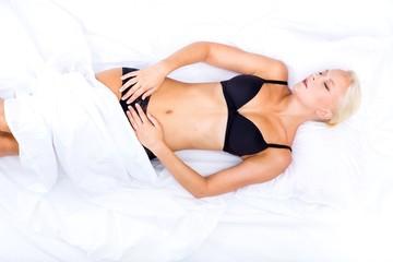Auf dem Bett