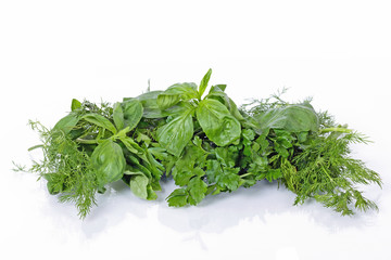 Basil, parsley and dill