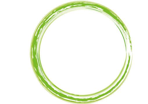 grüner Rahmen rund