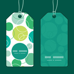 Vector abstract green circles vertical round frame pattern tags