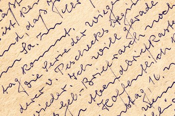 Fragment of an old handwritten letter, written in German.