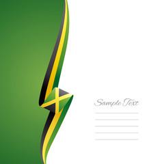 Jamaica left side brochure vector