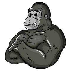 Gorilla Strong Mascot
