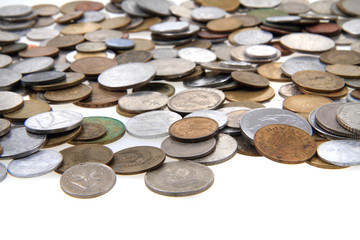 old european coins as money background