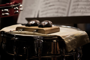 Orchestral castanets in a symphony orchestra