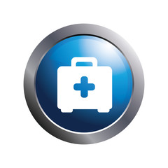 Health icon. Medical icon.First aid briefcase symbol.