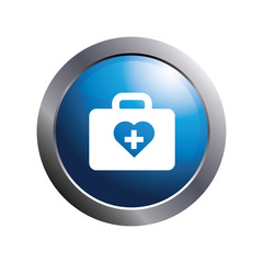 Health icon. Medical icon. First aid kit symbol.