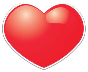 Heart symbol sticker