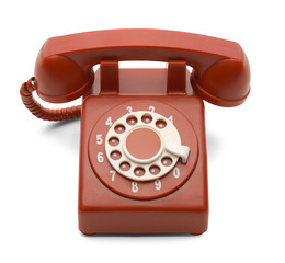 Red Dial Phone