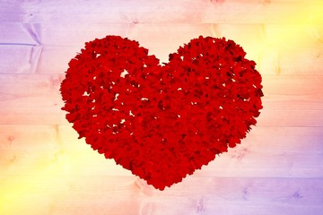 Wall Mural - Composite image of red love hearts