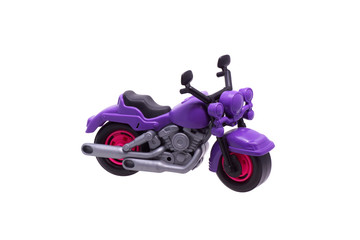 Plastic toy motorcycle.