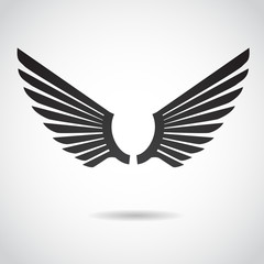 Wing vector icon.