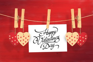 Wall Mural - Composite image of happy valentines day
