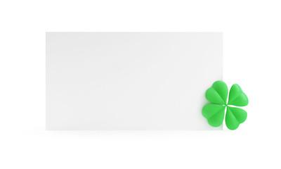 Four Leaf Clover form St. Patrick's day