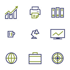 stock and market symbol line icon on white background vector