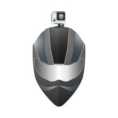 Camera DVR mount on helmet