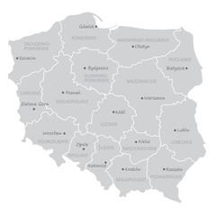 Fototapeta podział administracyjny polski, województwa obraz