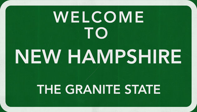 Welcome to New Hampshire USA Road Sign