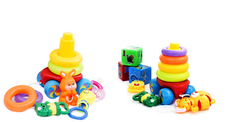 Various colorful toys for small children