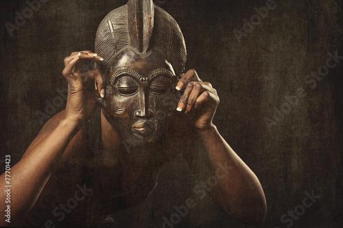 Fotomurales masque africain danse