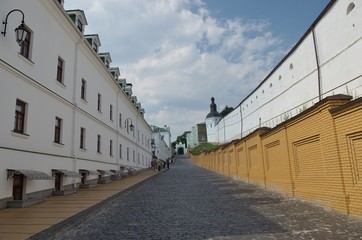 Kyiv Pechersk Lavra. Road to the west gate