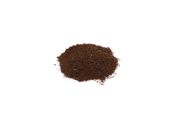 Ground Coffee Isolated on White