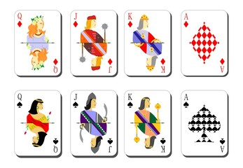 playing cards bubi peaks