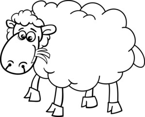 sheep farm animal coloring page