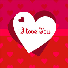 Valentine's Day post card vector