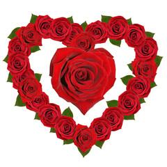 Rose in Form eines Herzens