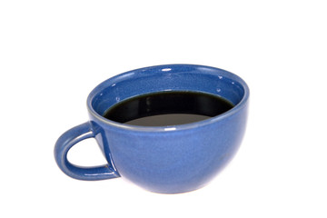 Blue Coffee Cup Isolated On White