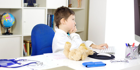 Studying to be a great doctor in the future