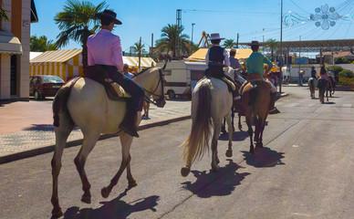 ANDUJAR,SPAIN - September, 6: .men women and children involved w