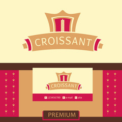 Vector logo, business card, identification of the bakery with