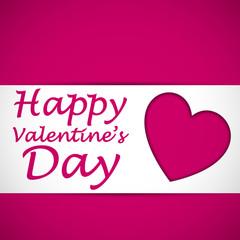 happy valentine heart card