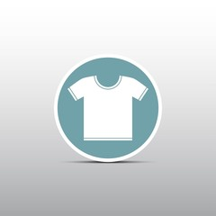 white T-shirt icon in  the circle