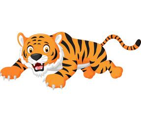 Cartoon tiger jumping