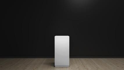 dark background with podium