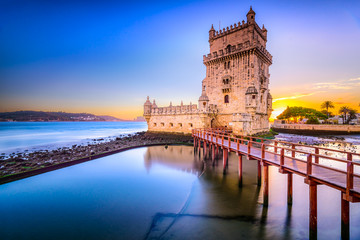Belem Tower in Lisbon, Portugal Fototapete