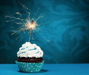 Fototapeta Birthday Sparkler Cupcake obraz