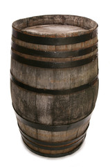 old vintage oak wine barrel