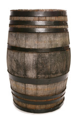 vintage oak wine barrel
