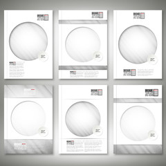 Grunge gray background. Brochure, flyer or report for business