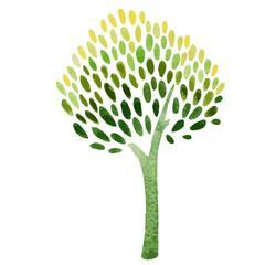tree, watercolor, pattern
