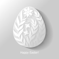 Decorative flowers Easter egg flat icon