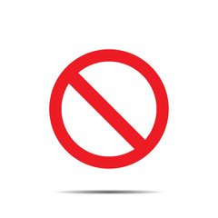 Icon ban with shadow on white  background